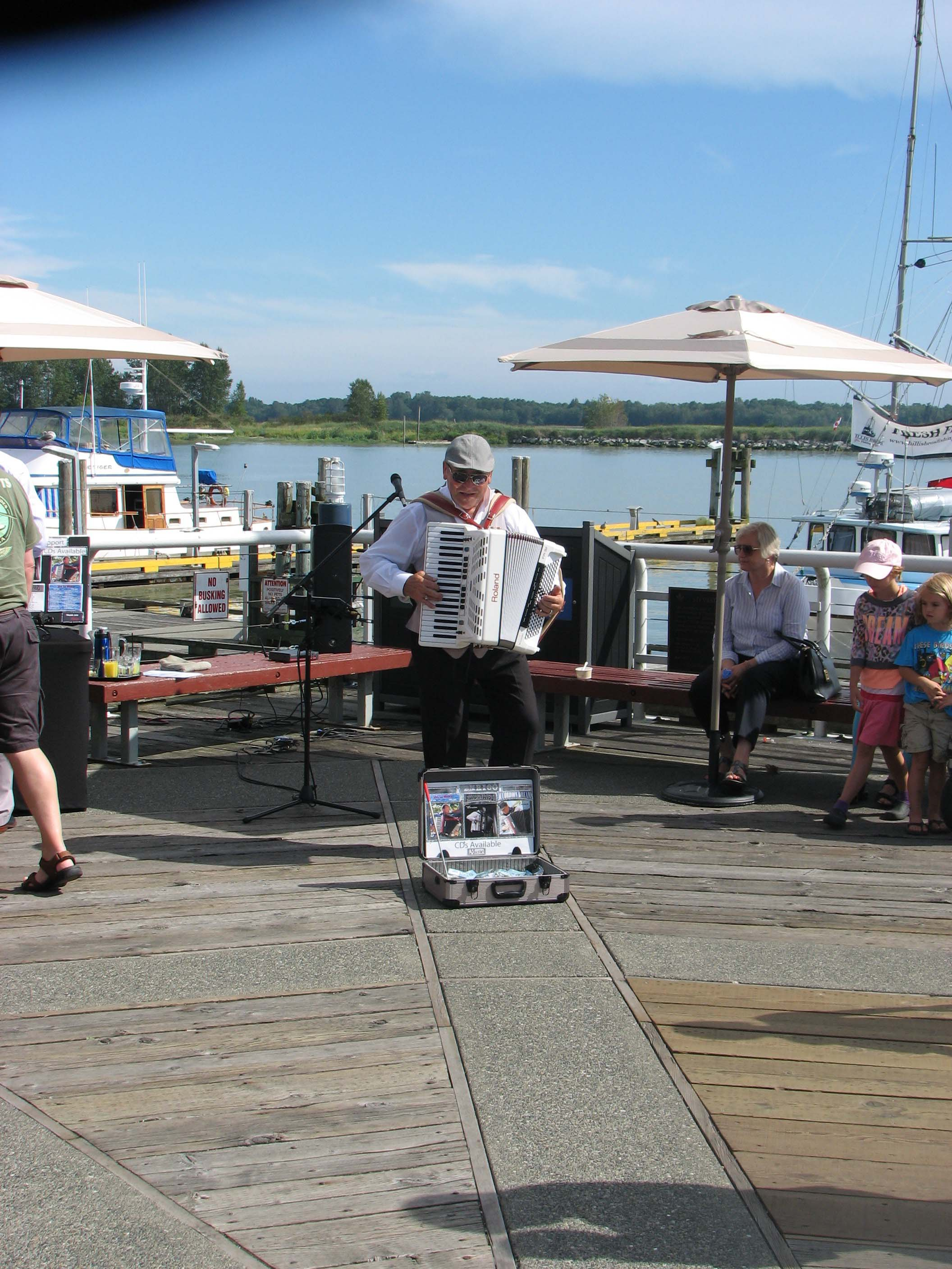 Accordion Player at Steveston Harbour