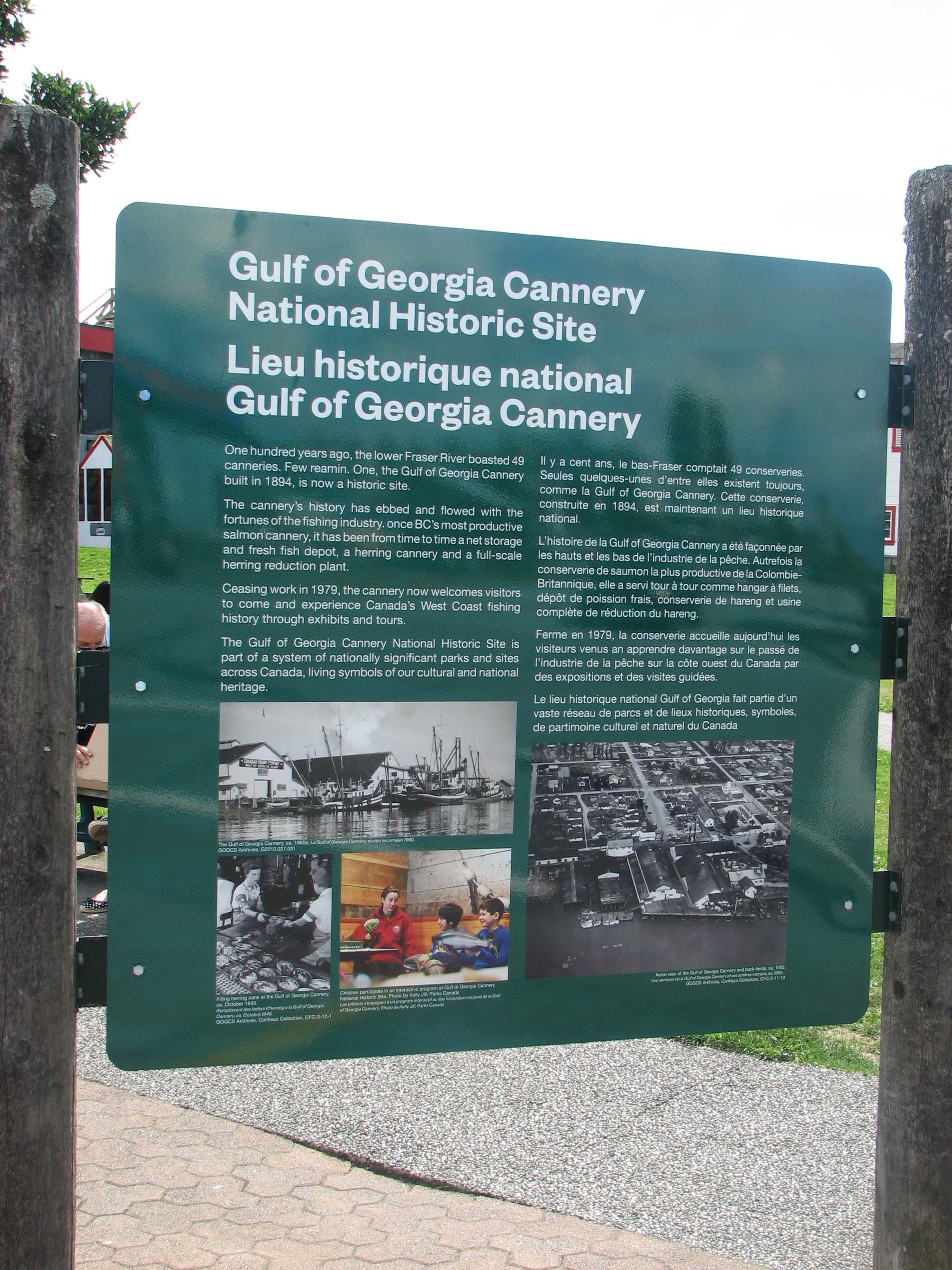 Gulf of Georgia Cannery (sign)
