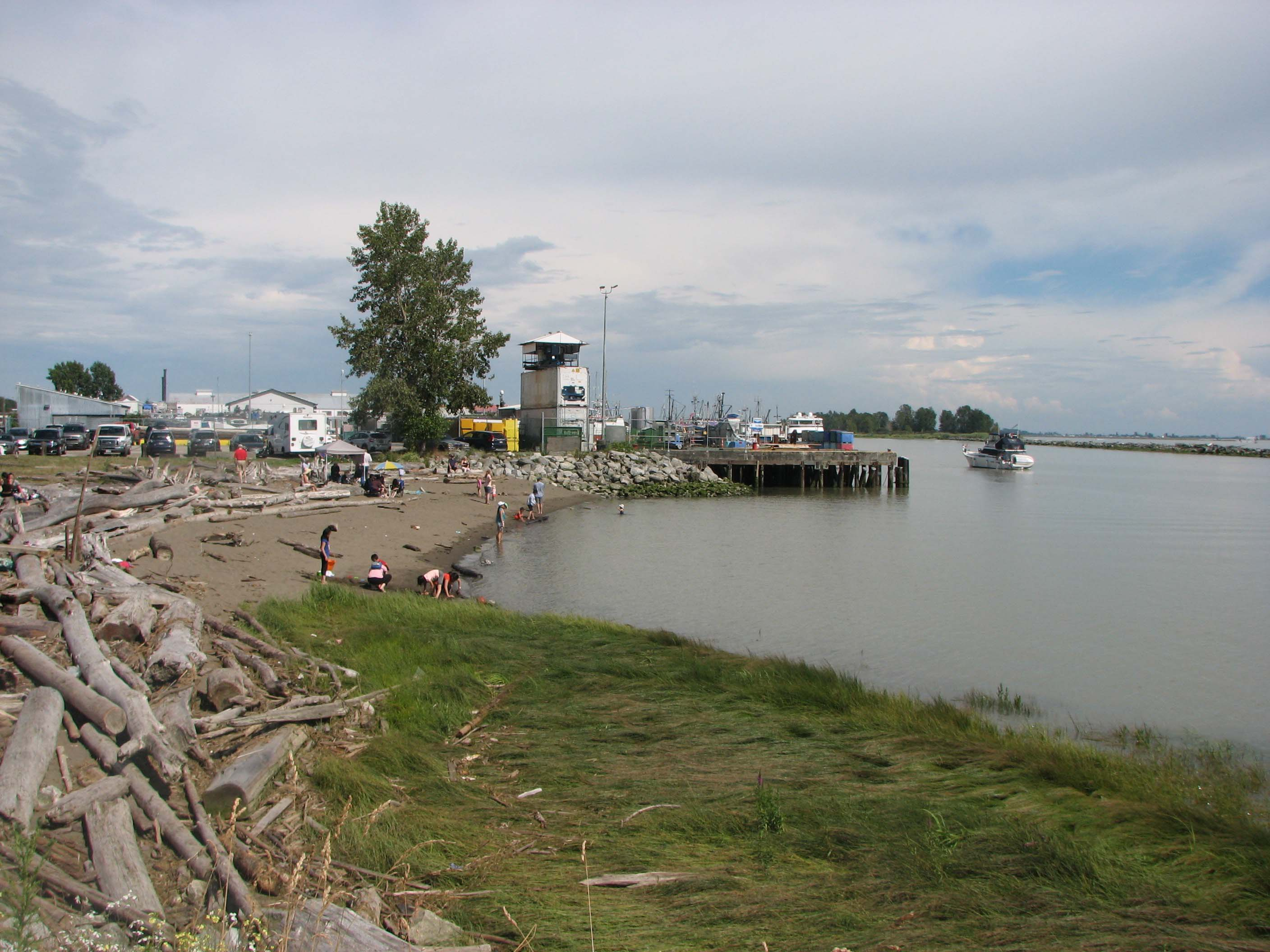 Small Beach at Garry Point Park just West of Steveston Harbour