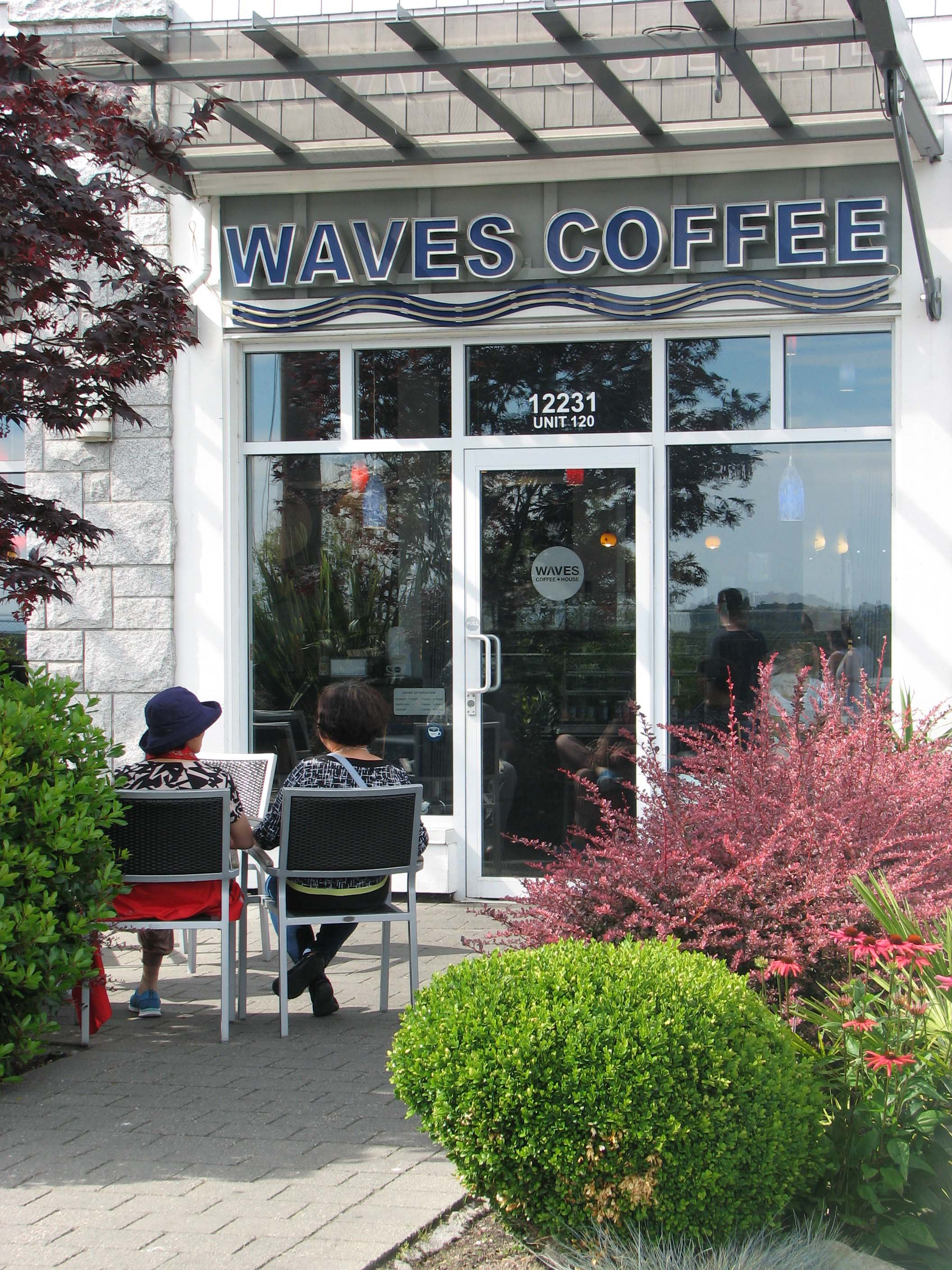 Waves Cafe entrance at Steveston Harbour