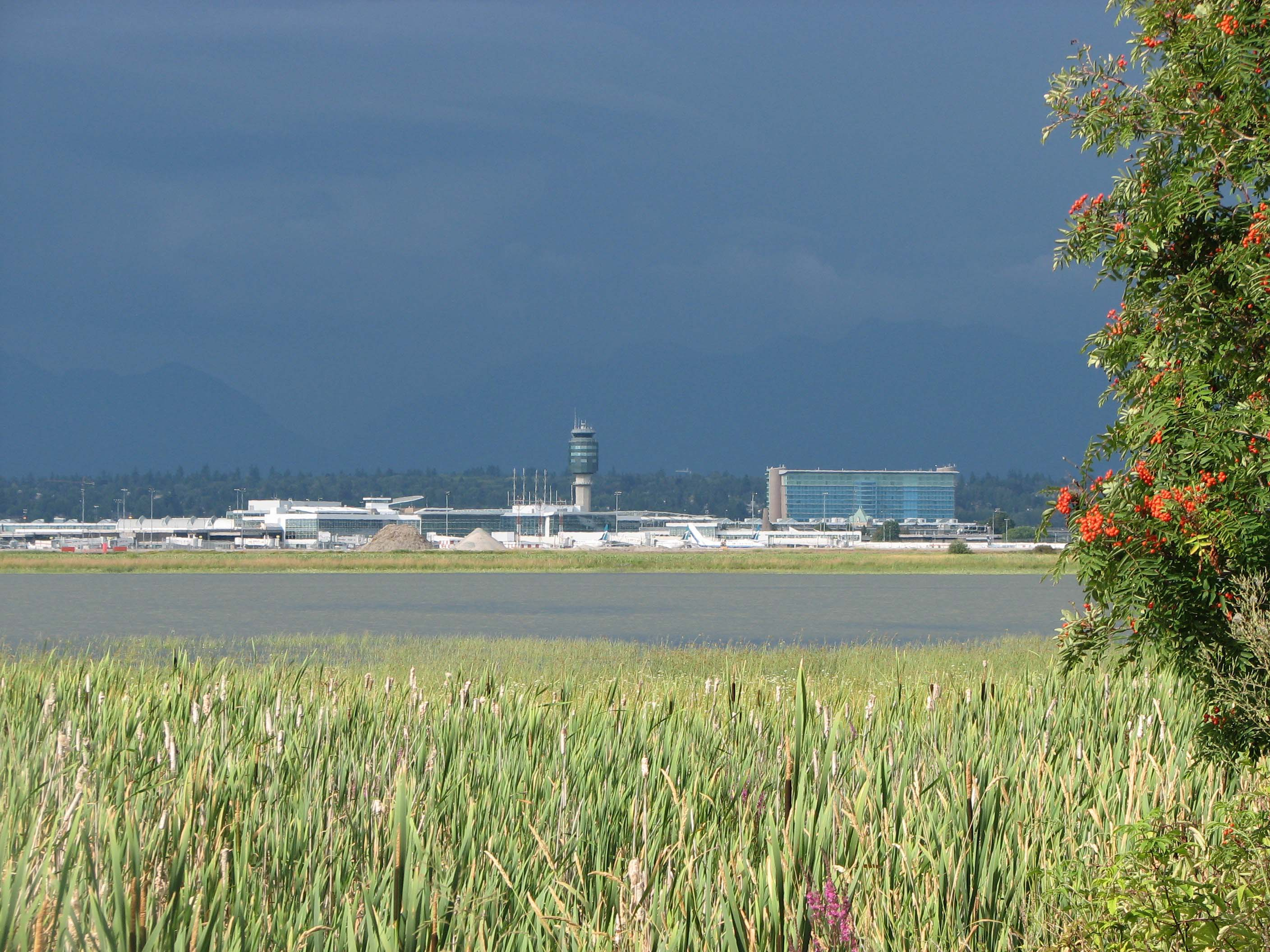 YVR Airport from West Dyke Trail in Richmond BC