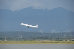 Air Canada Flight Takeoff from YVR Airport