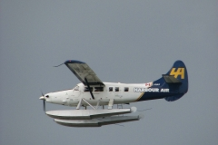 Harbour Air float plane takes off from YVR Airport's Terminal 2