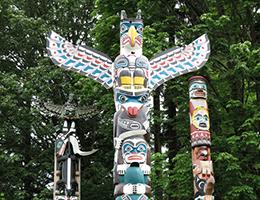 Totum Poles at Stanley Park