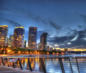 Vancouver Coal Harbour at Night