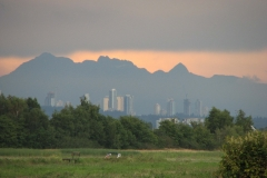 Burnaby from West Dyke Trail at Sunset